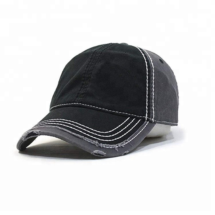 Distressed Style Mens Vintage Baseball Caps , Custom Short Bill Baseball Cap